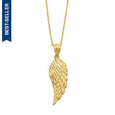 10K Gold Angel Wing Necklace