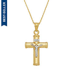10K Gold Crucifix Necklace