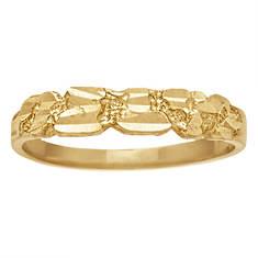 Women's 10K Gold Nugget Ring