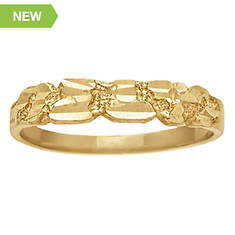 Women's 10K Gold Nugget Ring