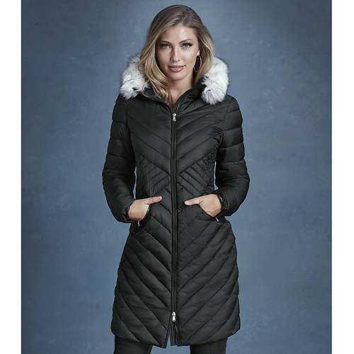 Seamed Puffer Coat