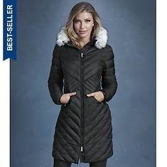 Seamed Puffer Coat