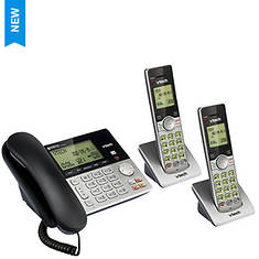 VTech Corded/Cordless Answering System - Base & 2 Handsets