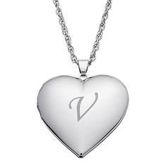 Initial Heart Locket