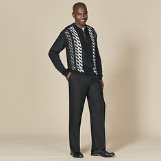 Stacy Adams Men's Vertical Quarter Zip Sweater Set