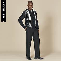 Stacy Adams Men's Vertical Knit Set
