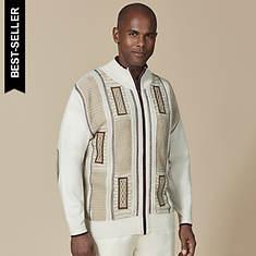 Stacy Adams Men's Microsuede-Trim Sweater