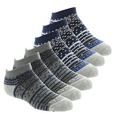 Skechers Boys' S108807 6-Pack 1/2 Terry Low Cut Socks
