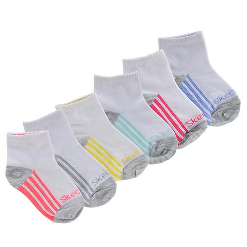 Skechers Girls' S106305 6-Pack Ankle Socks