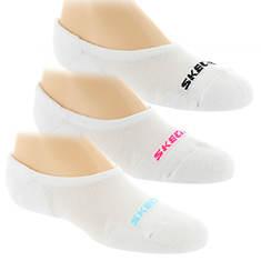 Skechers Girls' S108583 3-Pack Select Terry Liner Socks
