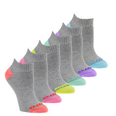 Skechers Girls' S108584 6-Pack Full Terry Quarter Socks