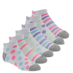 Skechers Girls' S109988 6-Pack Low Cut Socks