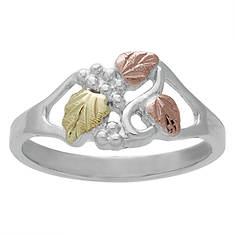 Landstrom's Black Hills Gold Women's Sterling Silver Vine Ring