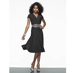 Rhinestone Belt Dress