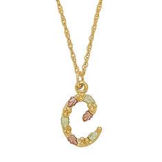 Landstrom's Black Hills Gold 10K Gold Initial Necklace