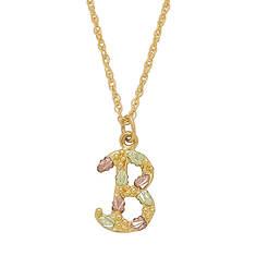 Landstrom's Black Hills Gold Initial Necklace