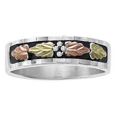 Landstrom's Black Hills Gold Women's Sterling Silver Antique Leaves Ring