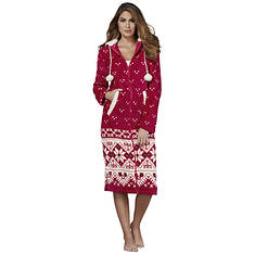 Women's Faux Fleece Lounge Gown