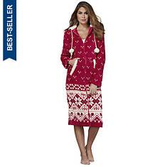 Women's Faux Fleece Lounge Gown