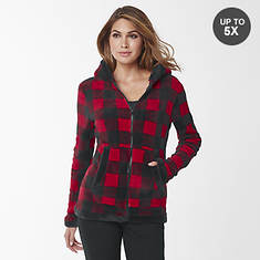 Women's Plaid Fleece Jacket