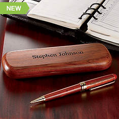 Personalized Wood Pens - Rosewood