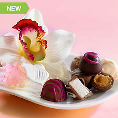 Everlasting Orchid Corsage & Deluxe Chocolates