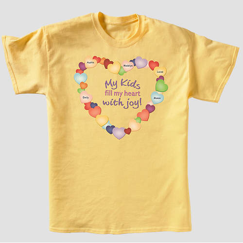 Personalized Mom's Joyful Heart Tees
