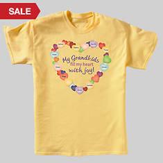 Personalized Grandma's Joyful Heart Tee