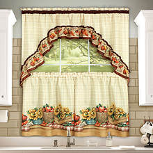 Tier & Swag Window Set with Braided Rug