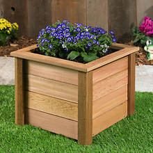 Square Cedar Planter-Large