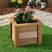 Square Cedar Planter-Small