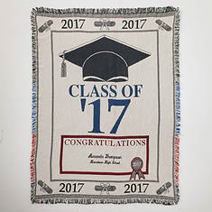 Personalized 2017 Graduation Throw