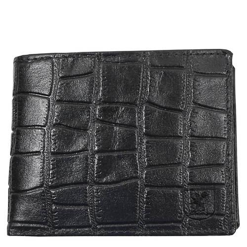 Stacy Adams Croco-Embossed Bifold Wallet