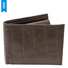 Stacy Adams Croco Embossed Bifold Wallet
