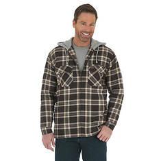 Wrangler Men's Hooded Flannel Jacket