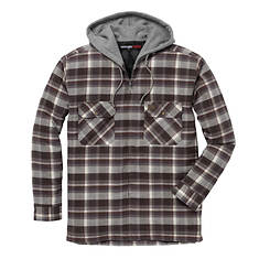 Wrangler Men's Hooded Flannel Jacket