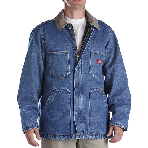 Dickies Men's Denim Zip Front Chore Coat