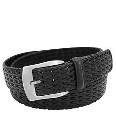 Stacy Adams Leather Hand Woven 32mm Belt