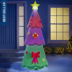8' Inflatable Color-Changing Tree