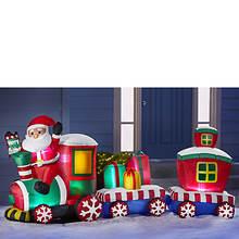 7' Inflatable Santa Train