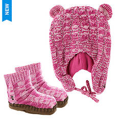 BEARPAW Marl Infant Hat and Bootie Set (Girls')