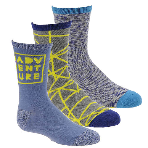 Stride Rite Boys' 3-Pack Adam Crew Socks