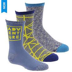 Stride Rite Boys' 3-Pack Adam Crew Socks