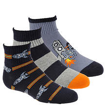 Stride Rite Boys' 3-Pack Robbie Quarter Socks