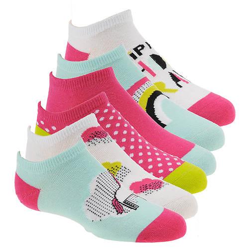 Stride Rite Girls' 6-Pack Magic Morgan No Show Socks