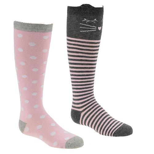 Stride Rite Girls' 2-Pack Kathryn Kitty Knee High Socks