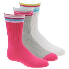Stride Rite Girls' 3-Pack Brianna Crew Socks