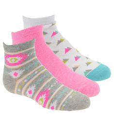 Stride Rite Girls' 3-Pack Emmy Quarter Socks