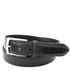 Florsheim 32mm Wing Tip Leather Belt