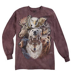 Long-Sleeve Animal-Print Tee